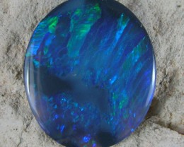 $10 Shipping for 5 items   SOLID FIREY BLACK OPAL  1.31ct