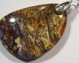 YowahRough-8.50Cts Boulder Matrix Opal - Pendant