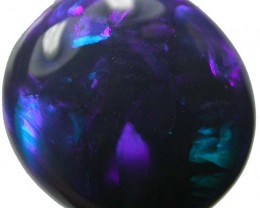 CHUNKY HIGH DOMED BLUE GREEN BLACK STONE 7.00CTS (B1R2)