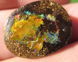 :BRIGHT FLASHY BOULDER OPAL,23.0 .CTS FROM : C / O :.