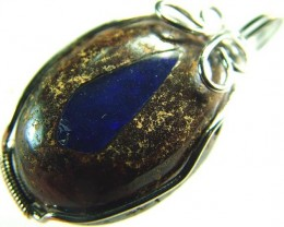 OPAL  PENDANT -WIRE WRAPPED  -- 52 CTS  [BMP2283 ]
