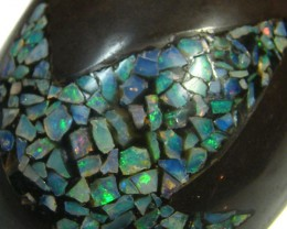 LUCKY INLAID OPAL TURTLE CARVING   400   CARATS  JO 569