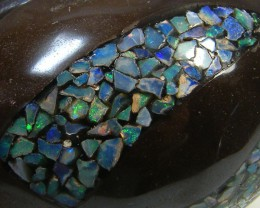 LUCKY INLAID OPAL TURTLE CARVING   386   CARATS  JO 576