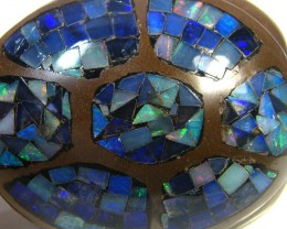 LUCKY INLAID OPAL TURTLE CARVING     418 CARATS  JO 577