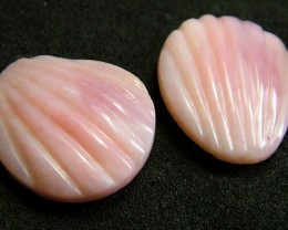 PINK OPAL -GRADE A -FLOWER CARVING  14.90 CTS [VS1202 ]