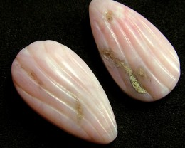 PINK OPAL -GRADE A -FLOWER CARVING  13.05 CTS [VS1206 ]