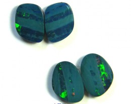 FREE SHIPPING TWO PAIRS OPAL DOUBLETS  11.25 CARATS   SG2110