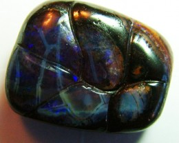 BEAUTIFUL DRILLED CARVED BOULDER OPAL 16CTS TBO-5463
