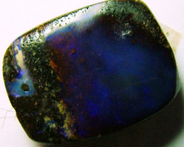 BEAUTIFUL DRILLED FLAT BOULDER OPAL 4CTS TBO-5468