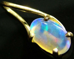 18 k GOLD PENDANT WITH SOLID RIDGE STONE 1.4 CTS [S1756 ]