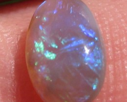 0.93 ct LR oval Bright Green Blue Purple  9 x 6 x 3mm K9