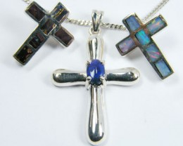 TRADE  DEAL THREE SILVER CROSS  PENDANTS  SCA 2478