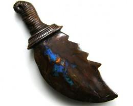 HAND CARVED SWORD  BOULDER OPAL  19  CTS MM 945