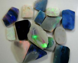 FREE SHIPPING OF ROUGH RUB BLACK OPAL  32.68 cts(Combined)