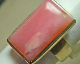 49  CTS PINK OPAL SILVER RING TBO-7729