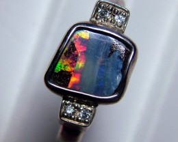 31 CTS BOULDER OPAL MENS RING SIZE-14.5 STERLING SILVER LO-4337