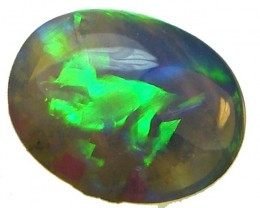 LOVELY LIGHTNING RIDGE BLACK OPAL 0.65CTS   (A74)