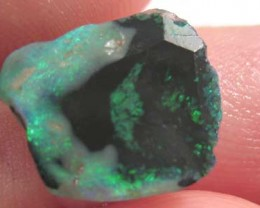 # 2.80 CTS FIRE GREEN BLUE RUB GOOD SIZE OPAL DOUBLE SIDED