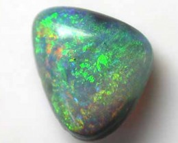 CABOCHON FREEFORM BLACK OPAL FIRE .85CT L1942