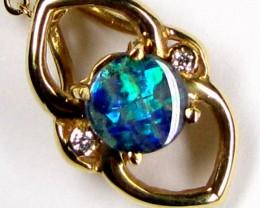 Boulder Opal Gold Pendant with Diamenties SCO36