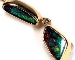 WOW 2pc Boulder Opal Gold Pendant SCO37