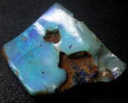 BEAUTIFUL BLUE FIRE FLASH ROUGH BOULDER OPAL 13.60 CTS GR988