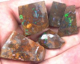 PARCEL RICH GREEN FIRE ROUGH BOULDER OPAL 175.5 CTS GR1023