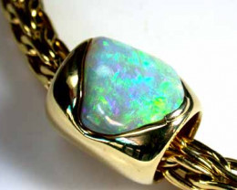 Unique Sell Necklace/Opal Hair Accessory  -appro 3 oz Gold