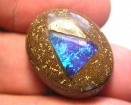LARGE   BOULDER OPAL WITH FIREY INLAY  [MB47] 37.00    CTS