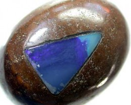 BOULDER OPAL WITH FIREY INLAY  [MB70] 24.24    CTS