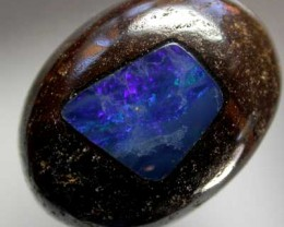 BOULDER OPAL WITH FIREY INLAY  [MB72] 20.85    CTS