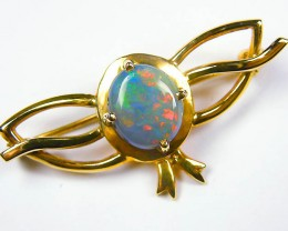 FEIRY RED FLASH BROOCH 18K GOLD SCO346