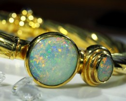 OPAL GOLD BANGLE UNIQUE SCO723