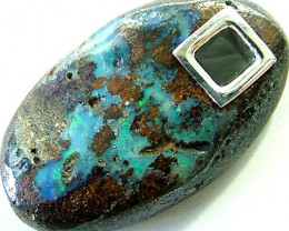 'SPECIAL' BOULDER PENDANT WITH SILVER BAIL  28 CTS [MS563 ]