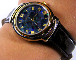 GENTS / LADIES  MOSIAC  OPAL WATCH LEATHER BAND 8407
