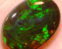 4.90ct Solid N1 Black Opal - Oval Cabochon - See Video!