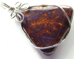 BOULDER PENDANT WIRE WRAPPED 78.50 CTS [MS601]