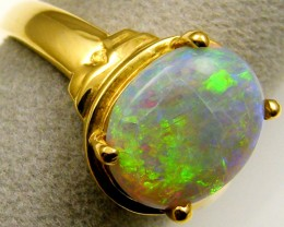 OLD MINTIBY   OPAL 18K YELLOW GOLD RING SIZE  9 CJ 12