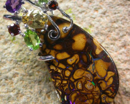 STUNNING  YOWAH  PENDANT WITH  6 NATURAL STONES 42CTS MS1359