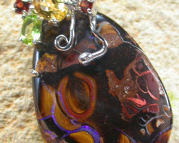 STUNNING  YOWAH  PENDANT WITH  6 NATURAL STONES 69CTS MS1371