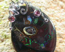 YOWAH  PENDANT WITH  3 TOURMALINES 56.55 CTS [MS1389]