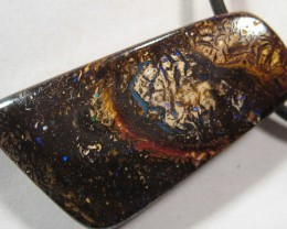YowahCut- 28.60Cts Rich Ironstone Qld Opal = Drilled
