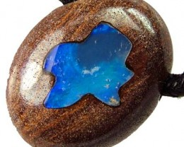 QUALITY BOULDER INLAY PENDANT 39.00 CTS [S1518 ]