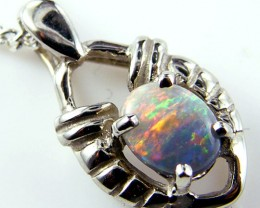 CUTE FIRE OPAL 18 K GOLD PENDANT  CJ 185