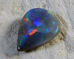 LIGHTNING RIDGE SOLID BLACK OPAL #310112/129
