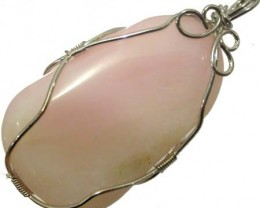 LARGE PINK OPAL -WIRE WRAPPED   96.90 CTS [VS 2116 ]