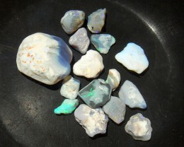 LIGHTNING RIDGE OPAL ROUGH NOBBY PARCEL 80CT