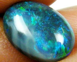 BLACK OPAL CABOCHON RING STONE 3 CTS JO 1080