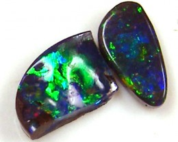 TWO SMALL GEM   BOULDER OPALS .80   CTS  MM 1417