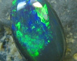 BLACK OPAL FROM DOWN UNDER AUSTRALIA CABOCHON CUT STONE 1.1C A2106
